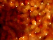 Bokeh starburst fiery abstract Royalty Free Stock Image