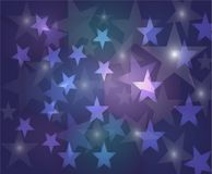 Bokeh stars round and blur as the abstract and Colorful sweet  b. Ackground.The vivid and bright and feels loved and used as a backdrop Stock Images