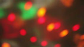 Bokeh steekt het gloeien textuur aan stock video