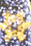 bokeh Sternlichtultraviolettfarbe Stockfotos