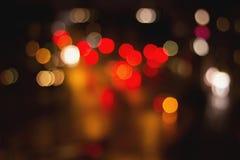 Bokeh-Straßen-Ampeln Stockfoto