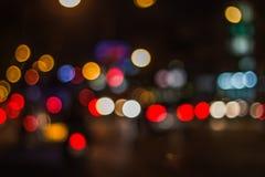 Bokeh street lights Royalty Free Stock Photos