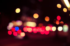 Bokeh street trafic light Royalty Free Stock Photos