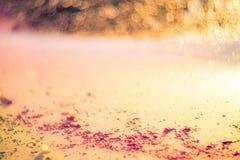 Bokeh suave de la playa de los colores fotografía de archivo