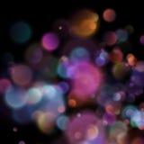 Bokeh suddiga ljus på mörk bakgrund 10 eps Royaltyfri Foto
