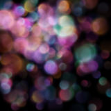 Bokeh suddiga ljus på mörk bakgrund 10 eps Royaltyfri Fotografi