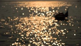 Bokeh of sunset light reflect (Blurred to focus background) stock footage