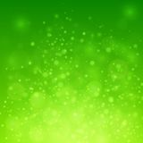 Bokeh sur le fond vert Photo stock