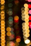 Bokeh tänder abstrakt bakgrund för tappning, ljus bokeh för uteliv, Fotografering för Bildbyråer