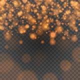 Bokeh tänder - apelsinen mousserar på illustration för stordiabakgrundsvektor Arkivbilder