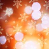 Bokeh tänder härlig julbakgrund Arkivfoton