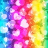 Bokeh tła miłość 1 Obrazy Stock