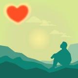 Bokeh tła miłość 1 Zdjęcie Stock
