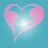 Bokeh tła miłość 1 Obraz Royalty Free