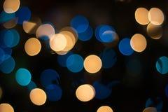 Bokeh tło z unikalnymi round kształtnymi światłami lub zamazującym światła tłem Zdjęcia Royalty Free