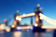 Bokeh Tower Bridge of London Stock Photo