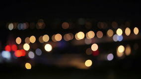 Bokeh traffic stock video footage