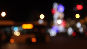Bokeh traffic. Colorful lights and city traffic stock video