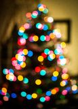 Bokeh Tree at the house, Christmas time. stock photography