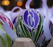 bokeh unico del tulipano dell'uovo di Pasqua fotografia stock libera da diritti
