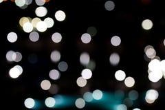 bokeh urbano de la luz de la noche Foto de archivo libre de regalías
