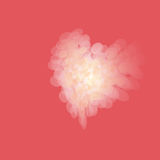Bokeh valentine heart on red background Stock Photo