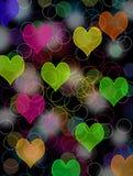 Bokeh valentine lights stock photo