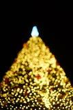Bokeh van chrismasboom Royalty-vrije Stock Afbeeldingen