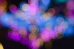 Bokeh van colorfull lichte muur Stock Afbeeldingen