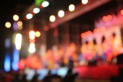 Bokeh van de lichten bij nacht en onscherp Royalty-vrije Stock Fotografie