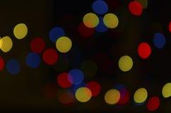 Bokeh van de lichten Bokeh van de nachtstad van de lichten van de nachtstad royalty-vrije stock afbeelding