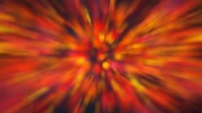 Bokeh variopinto degli indicatori luminosi Faccia festa le luci vibranti con molti colori con effetto dello zoom illustrazione vettoriale