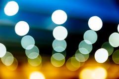 Bokeh variopinto di luce, con la pubblicità di ror del copyspace fotografia stock libera da diritti