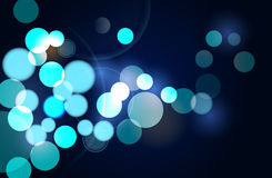 Bokeh. Vector Abstract Bokeh Background, Eps10 Vector, Transparency used Stock Photos