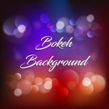 Bokeh vector background EPS file. Abstract vector bokeh background, blurred background, EPS file, magic and elegant background royalty free illustration