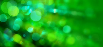 Bokeh verde Immagine Stock
