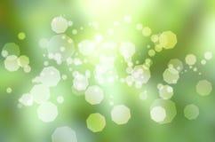 Bokeh verde della sfuocatura del fondo fotografia stock libera da diritti