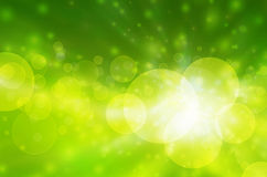 Bokeh verde e fresco do fundo abstrato Foto de Stock