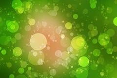 Bokeh verde e fundo verde Foto de Stock Royalty Free