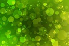 Bokeh verde e fundo verde Imagens de Stock Royalty Free