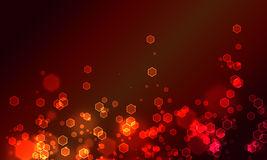 Bokeh vermelho do hexogon Fotos de Stock
