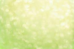 Bokeh vert de limette Images libres de droits
