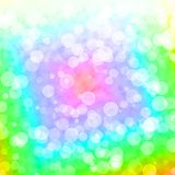 Bokeh Vibrant Multicolored Background With Blurry Lights. Bokeh Vibrant Multicolored Background With Blurry Highlights royalty free illustration