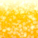 Bokeh Vibrant Yellow Background. With Blurry Light Royalty Free Stock Image