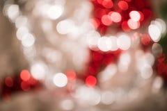 Bokeh vif rond lumineux de Noël et d'ornement de décoration de nouvelle année photographie stock