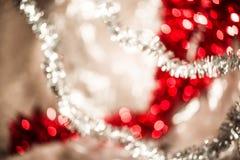 Bokeh vif rond lumineux de Noël et d'ornement de décoration de nouvelle année image libre de droits