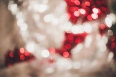 Bokeh vif rond lumineux de Noël et d'ornement de décoration de nouvelle année images stock