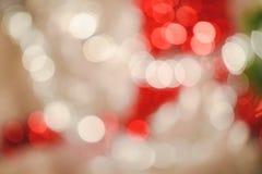 Bokeh vif rond lumineux de Noël et d'ornement de décoration de nouvelle année photographie stock libre de droits