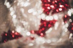 Bokeh vif rond lumineux de Noël et d'ornement de décoration de nouvelle année photo libre de droits