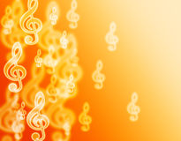 Bokeh music violin clef. Royalty Free Stock Photos